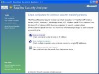 Microsoft Baseline Security Analyzer图1