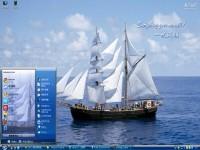 一帆风顺电脑桌面主题图1