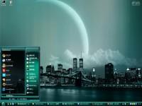 城市月光电脑桌面主题图1
