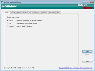 恶意软件清理 Norman Malware Cleaner图1